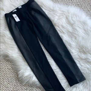 Girls dressy black legging faux leather